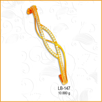 916 Gold Fancy Ladies Kada LB-147