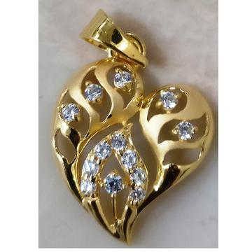 22kt gold cz casting heart shape pendant