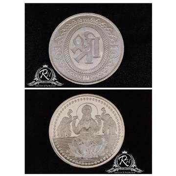 silver 999 laxmiji coin RH-BR983