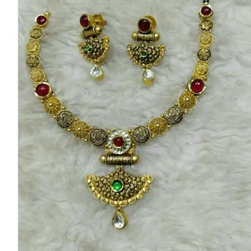 22K / 916 Gold Modern Antique Necklace Set