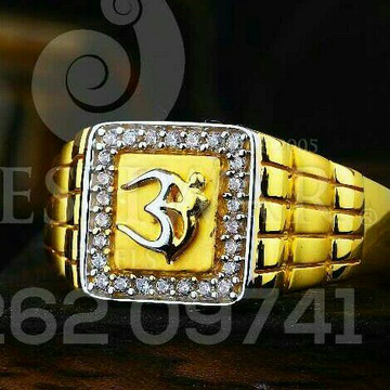 Om Fancy Cz Gents Ring 916