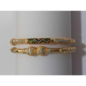 22KT Gold Colorful Design Copper Kadli by