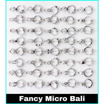 92.5 Sterling Silver Fancy Micro Bali Ms-3562 by
