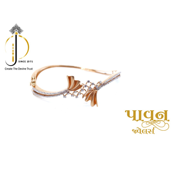18KT Rose Gold Fancy CZ Bangles For Ladies KKG0127 by