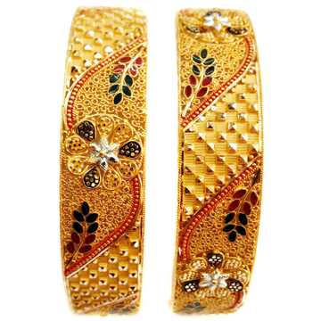 22k gold designer bangles kada mga - gp026