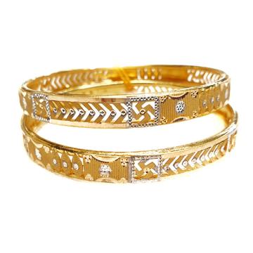916 gold Swastik copper kadli bangles mga - gk038