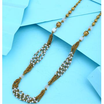 22KT Gold New Latest Design Hallmark  White Moti Mala