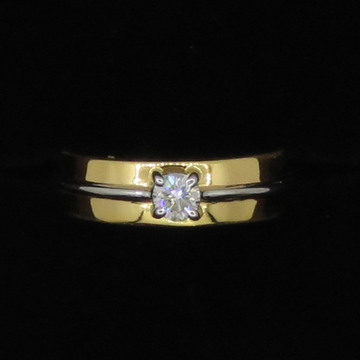 Gold Single Diamond Fancy Ring KJ-LR06