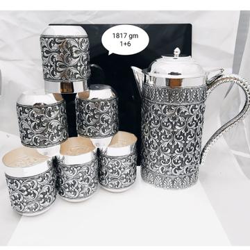 92.5 pure silver designer fancy shape jug glasses...