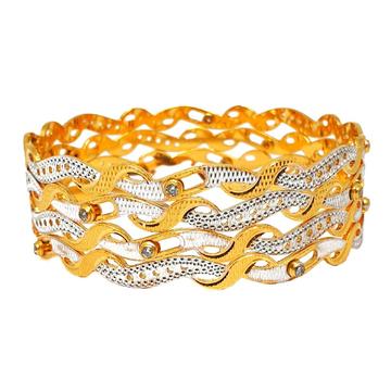 1 gram gold forming movable diamond bangles mga - bge0306