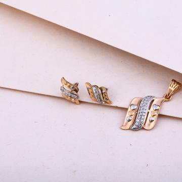 750 Rose Gold Stylish Pendant Set RPS112