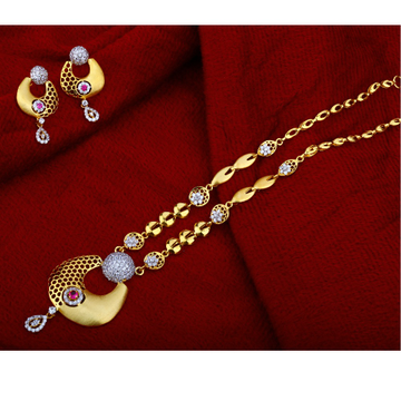 916 Gold Stylish  Chain Necklace   CN07