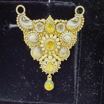 916 Antique Gold Mangalsutra Pendant by