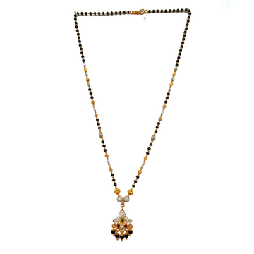 One gram gold forming fancy mangalsutra mga - mse0094