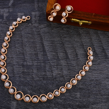 18CT Rose Gold Women's Classic  Necklace Set RN159