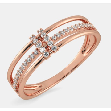 18kt rose gold diamond ring by