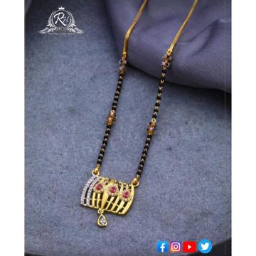 22 carat gold classical mangalsutra RH-MN579