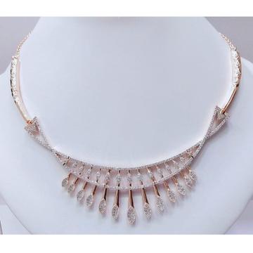 18K Rose Gold Designer Bridal Necklace VJ-N013 by