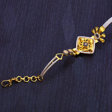 916 Gold Designer Ladies Hallmark Bracelet LB275