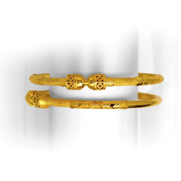 916 INCREDIBLE KALKATI DESIGNED GOLD COPPER BANGLE KADLI