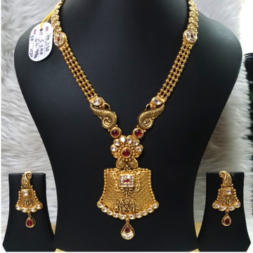 22KT Gold Designer Jadtar Necklace Set