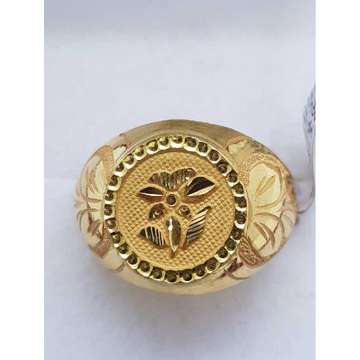 916 Gold Flower Design gents ring SJ-GR/54