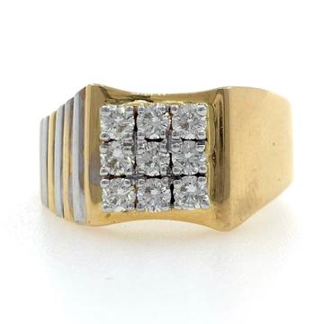 18kt yellow gold classic handmade everyday diamond...