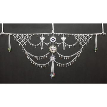 Silver Colourful Marwari Half Kandora by