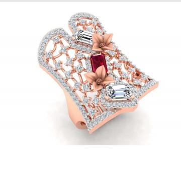 18k gold cz fancy ladies ring pj-r006
