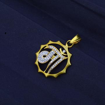 Men's Exclusive 916 Fancy Mother Gold Pendant- MFP05