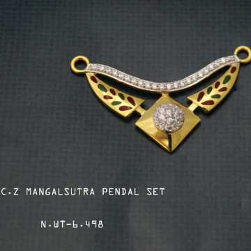 22ct(916) mangalsutra pendal set by