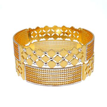 One Gram Gold Forming Designer Bangles MGA - BGE0474