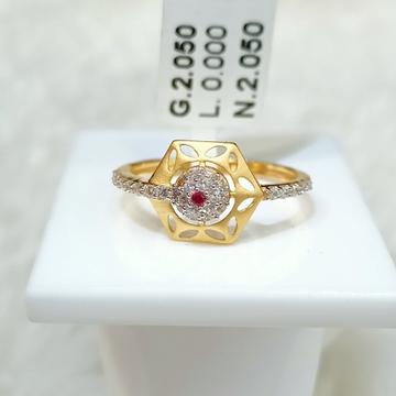 22 kt hexagon shape fancy ring by