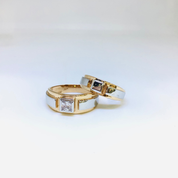 DESIGNING FANCY ROSE GOLD COUPLE RINGS by