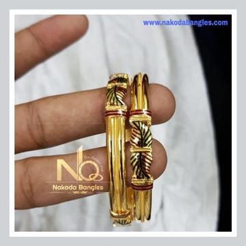 916 Gold Patra Bangles NB - 746