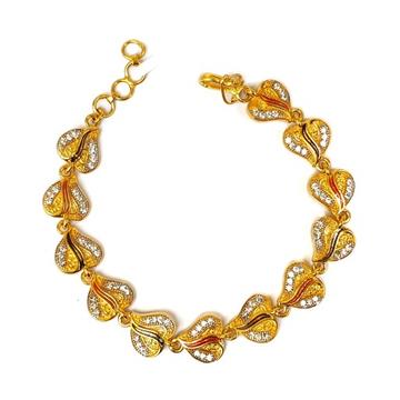 1 Gram Gold Forming Fancy Bracelet MGA - BRE0043