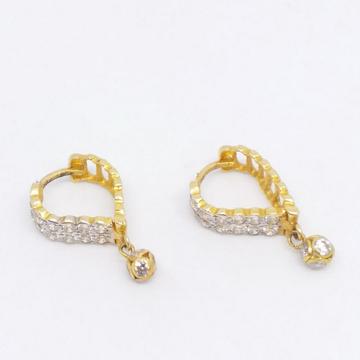 18 KT 750 Gold Daimond Heart Shape Bali with Hangi... by Zaverat