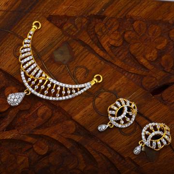 916 Gold Hallmark Everstylish design CZ Pendant Set