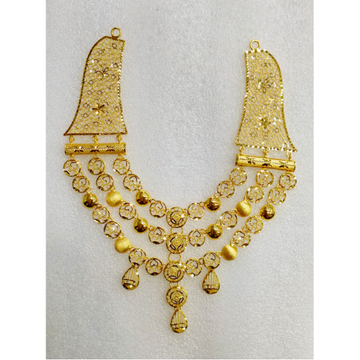 22Kt Gold Classic 3 Layered Necklace MJ-N008