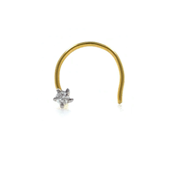 18kt / 750 yellow gold classic single 0.02 cts dia...