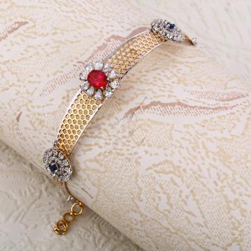 750 Rose Gold Stylish Ladies Kada Bracelet RLKB278