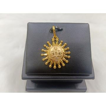 18 Carat Gold Surya Pendent