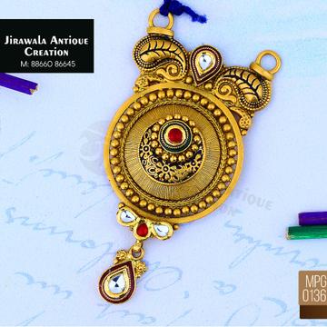 916 Gold Antique Pendant MPG-0136