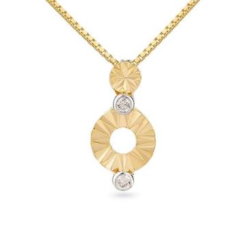 22k, 916 hm, gold circles pattern pendant chain for women JKP156