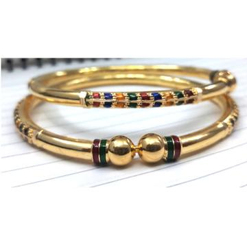 916 Gold Stylish Copper Kadali Bangle