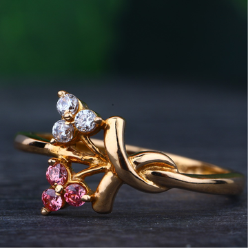 18KT rose gold ring Attractive for women rhj-25