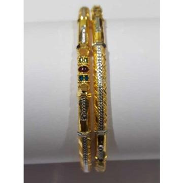 916 Fancy Designer Gold Copper Pipe Kadli by