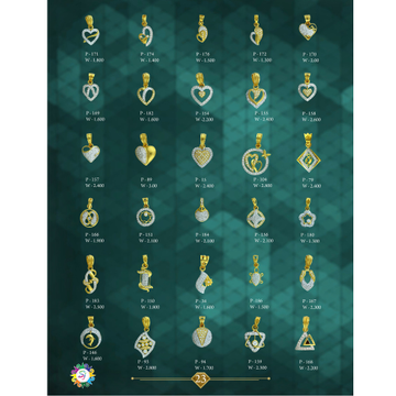 916 GOLD CZ DIAMOND GENTS PENDANT