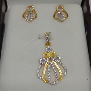 22KT Gold CZ Pendant Set MJ-P002