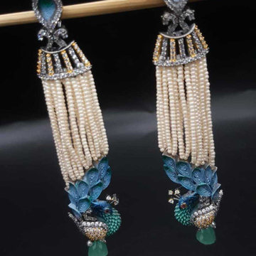 peacock Earrings long#363